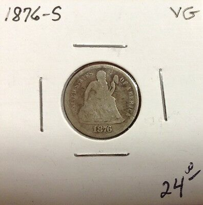 1876-S 10C Liberty Seated Dime