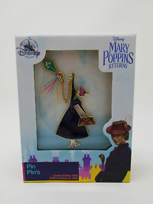 Disney Store Mary Poppins Returns Jumbo Pin Limited Edition LE Boxed Pin of 1500