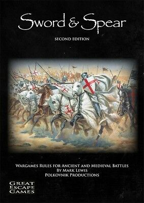 Sword & Spear 2nd Ed Wargame Rules Ancient & Medieval Miniature Battles New!