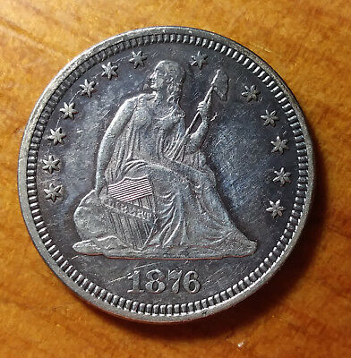 1876 Seated Liberty Quarter 25C Filler Coin for TYPE SET