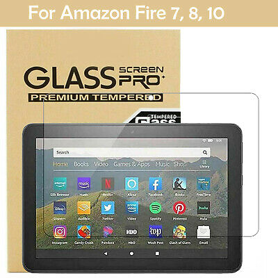 Tempered Glass Screen Protector For Amazon Fire 7 HD 8 HD 10 2017 with alexa UK