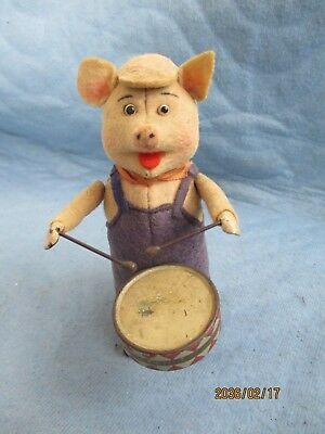 Schuco Tanzfigur Schwein mit Trommel  MADE IN GERMANY