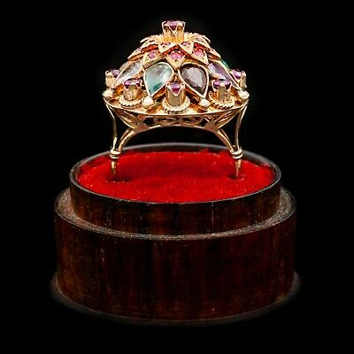Antique Vintage Deco Retro 14k Gold SIAM Princess Ballerina Harem Ruby Ring 7.75