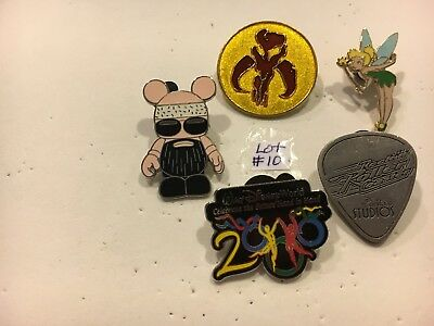 Lot Of 5 Disney Pins (Pin Lot # 10)