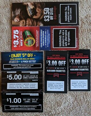 Marlboro,Skoal,Copenhagen,Red Seal & Camel Coupons $24.25 savings