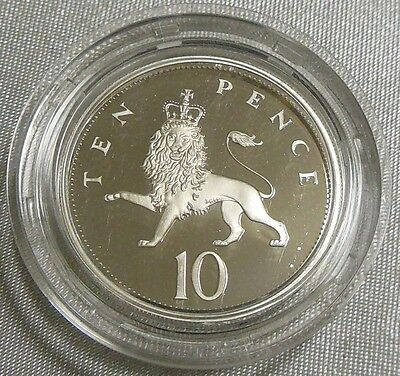 Nice 1992 Great Britain Ten Pence Sterling Silver Proof Coin UK 10 Pence 28.5mm
