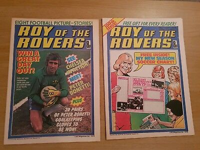 Roy of the Rovers Comics - Aug 1978. Only 2 issues
