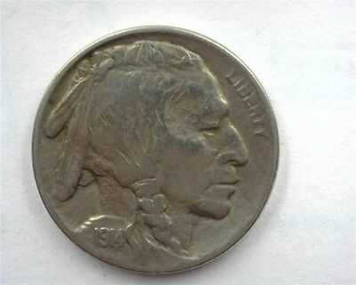 1914/3 Buffalo 5 Cents -4 Over 3- Uncirculated Very Rare! Keydate!