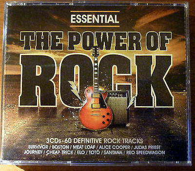 3 CDs ~ ESSENTIAL THE POWER OF ROCK - 60 Rock Tracks Compilation