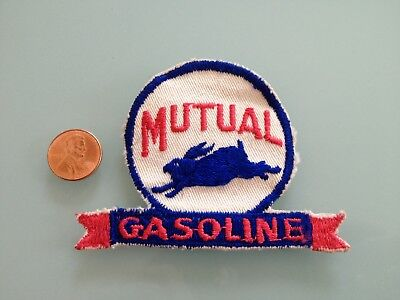 Vintage MUTUAL Gasoline oil PATCH unused RARE sew on Gas Station