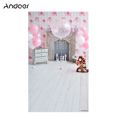 Andoer 1.5 * 0.9m/5 * 3ft Birthday Party Photography Background Pink C4X0