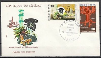 Senegal, Scott cat. 448-449. Telecommunications issue. First day cover