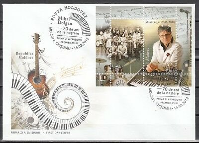 Moldova, 2012 issue. Composer & Musician s/sheet. First day cover