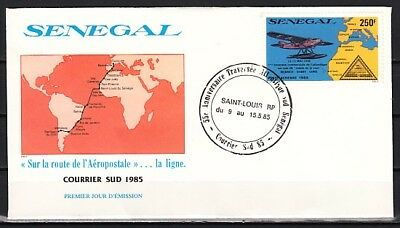 Senegal, Scott cat. C149. Air Post, Stamp on stamp issue. First day cover