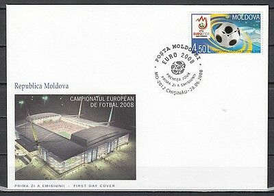 Moldova, Scott cat. 588. European Soccer issue on a First day cover