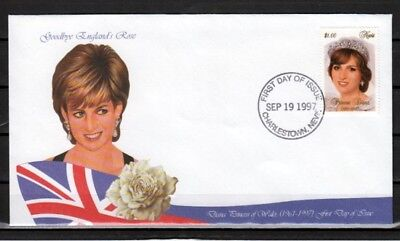 Nevis, Scott cat. 1030 C. Princess Diana on a First day cover