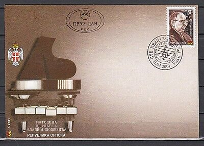 Bosnia, Serb. Scott cat. 134. Composer issue. First day cover