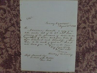 THOMAS CORWIN - AUTOGRAPH LETTER SIGNED 08/12/1850 Abraham Lincoln Cabinet