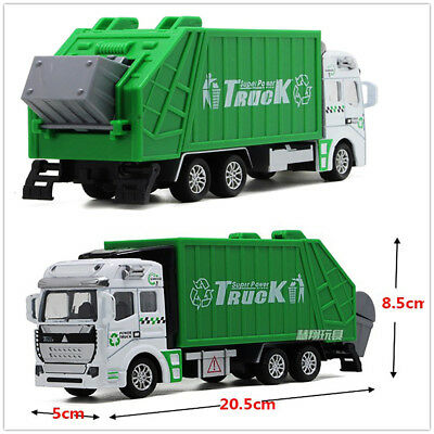 Car Simulation Model Pull Back Power Garbage Truck Education Toy Gifts For Kids