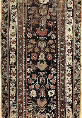 Perfect Persian - 1900s Antique Kurdish Rug - Tribal Runner - 2.10 x 11 ft.