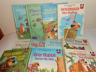 Lot of 11 Walt Disney's Wonderful World of Reading Children's Books Vintage 70s