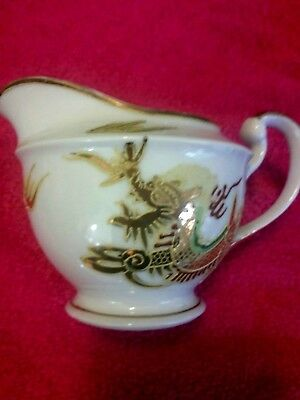 Vintage Japanese Moriage dragonware creamer. Ex. condition