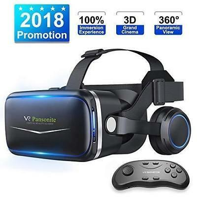 Brand New Pansonite VR Headset W/ Remote Controller 3d Glasses Virtual Reality