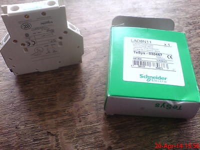 Schneider Auxiliary contacts LAD8N11 TeSys-038467 NC & NO contacts