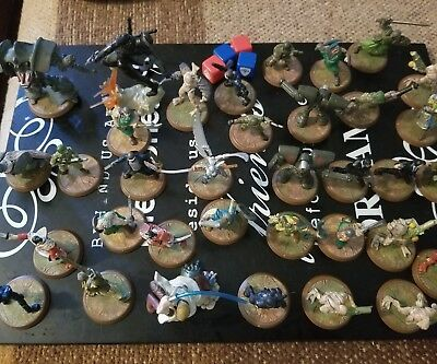 Heroscape Game Pieces 33 Small 2 Lg Warrior Dragon Figures Figurines War Game