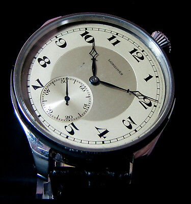 LONGINES DRIVER'S Antique 1928 Men's Wristwatch Metal Dial