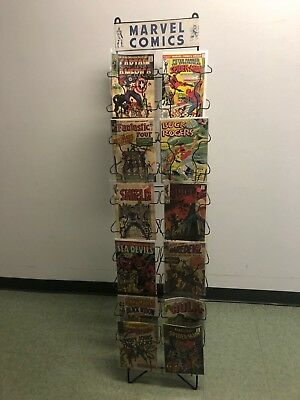 Vintage Marvel Comics Store / News Stand Metal Comic Display Rack