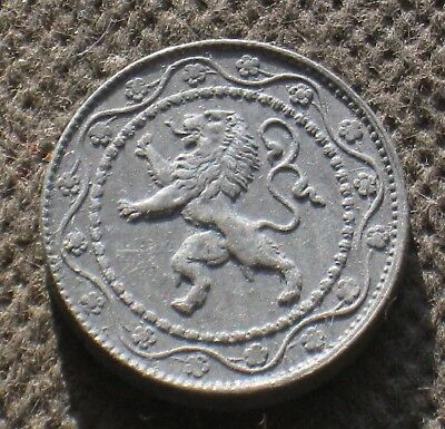 Old Coin Of Belgium Belgique 25 Cent 1918 World War I Lion