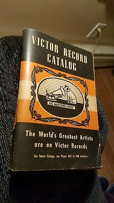Vintage 1940-41 RCA Victor Record Catalog,495 Pgs,Plus 136 Pgs. of Artists,SUPER