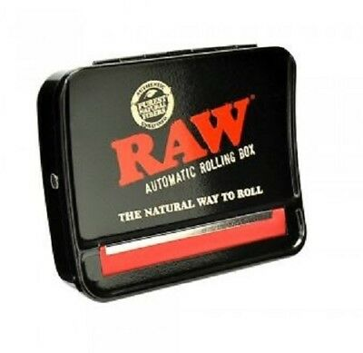 Raw Black Automatic Cigarette Tobacco Smoking Rolling Machine Roller Box 79mm
