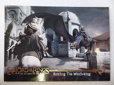 TOPPS Card : LOTR The Return Of The King  #61 BATTLING THE WITCH KING