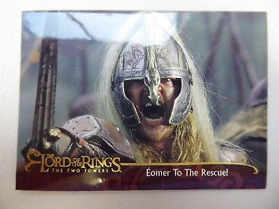 TOPPS Lord of the Rings: The Two Towers - Card #74 EOMER TO THE RESCUE!