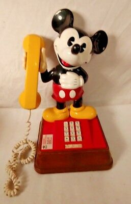 Vintage Mickey Mouse touch-tone telephone 1976 Made by Western Electric