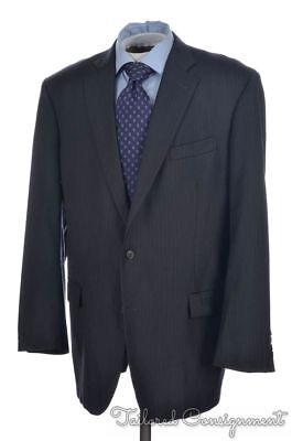 BROOKS BROTHERS Madison Gray Striped 100% Wool Jacket Pants SUIT Mens - 46 L