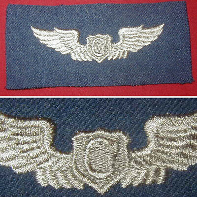 Original Cloth Glider Pilot Wings on Blue wool - early U.S. Air Force 1947-1951