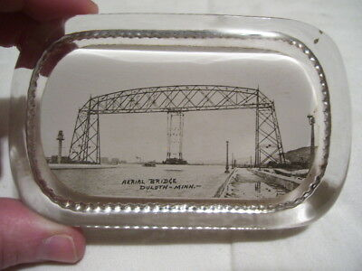 Antique Early 1900s Duluth MN Lift Bridge Paperweight