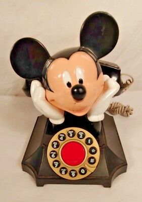 Mickey Mouse telephone - touchtone rotary style