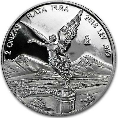 2018 2 oz Silver Mexican Libertad PROOF Coin .999 Fine Silver #A362