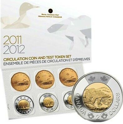 2011 2012 Canada Circulation Coin and Test Token Set - Mintage only 25,000