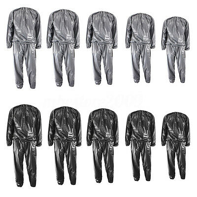 Heavy Duty Fitness Weight Loss Sweat Sauna Suit Exercise Gym Anti-Rip L-4XL new