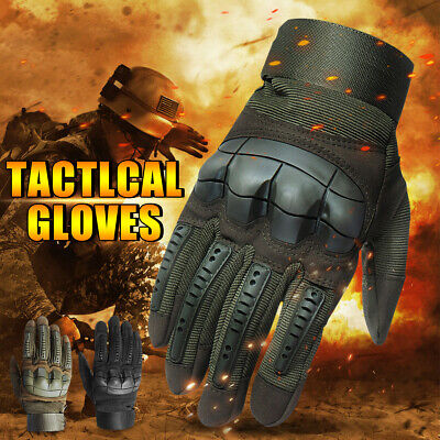 Men Army Tactical Military Full Finger Gloves Hard Knuckle Outdoor Touch