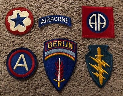 US Army Airborne Military Patches Lot Of 6