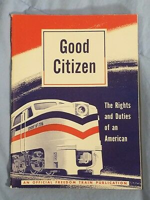 Vintage 1948 GOOD CITIZEN Freedom Train Publication Rights & Duties of American