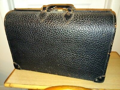 Vintage Leather Doctor Bag Apothecary 6 Compartments 17 1/2 L 7 3/4W 11 1/2H