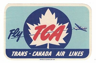 Trans Canada Air Lines -  Vintage Luggage Label c.1950s