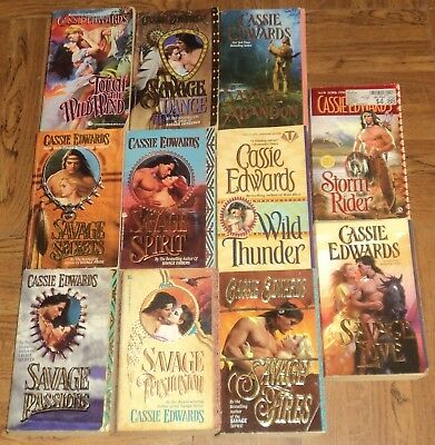 """CASSIE EDWARDS """"HISTORICAL ROMANCE"""" PAPERBACK COLLECTION - Lot of 11"""